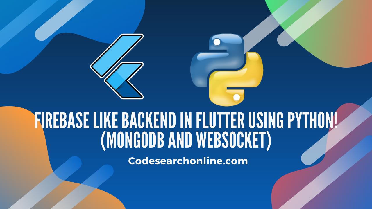 Flutter Python Backend