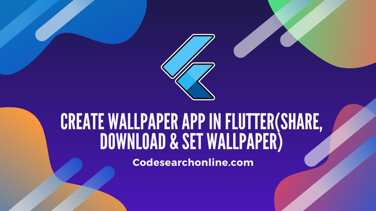 wallpaper app in flutter