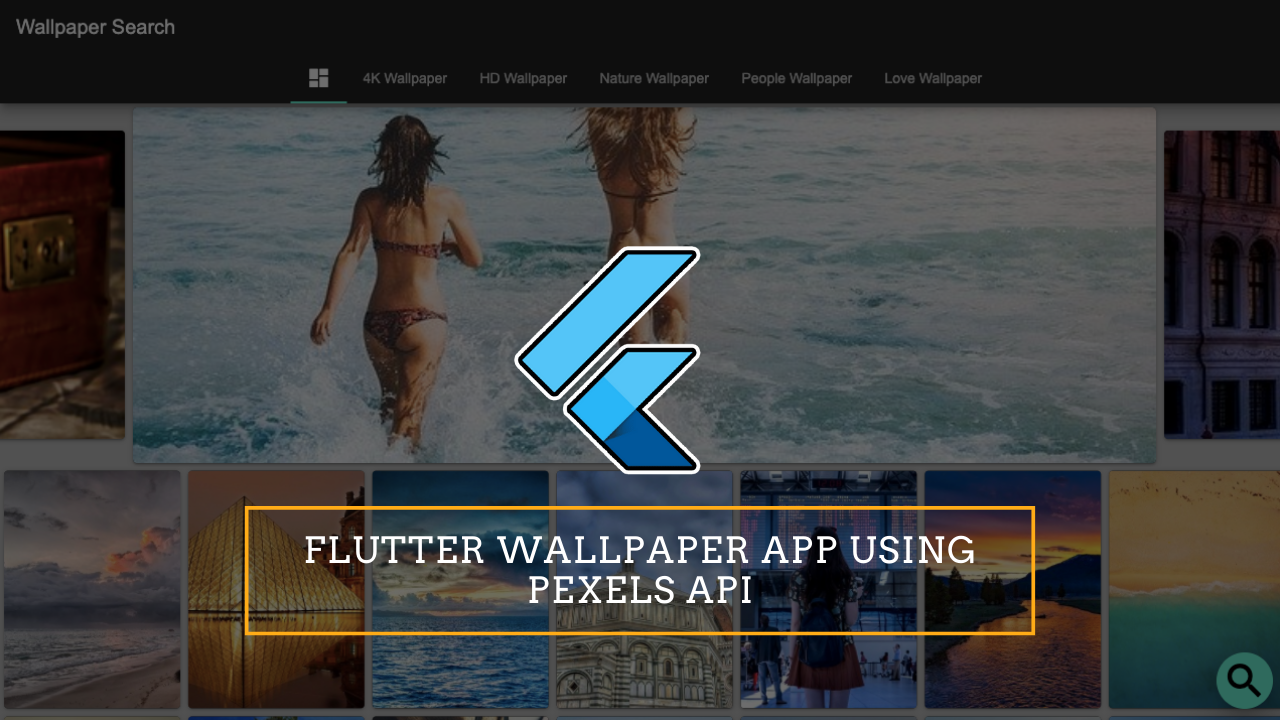 Flutter Wallpaper Web App Using pexels API