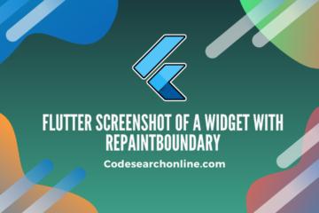 Flutter screenshot of a widget with RepaintBoundary