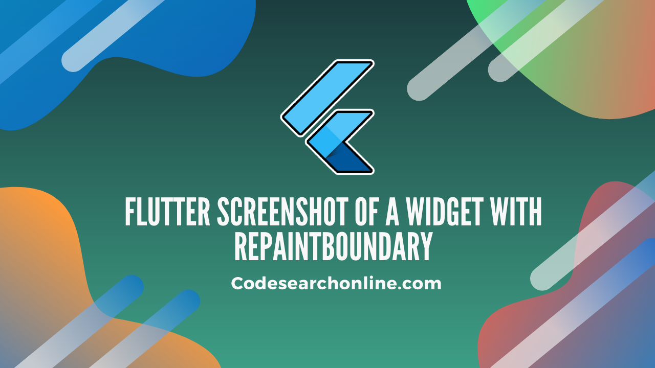 Flutter screenshot of a widget with RepaintBoundary