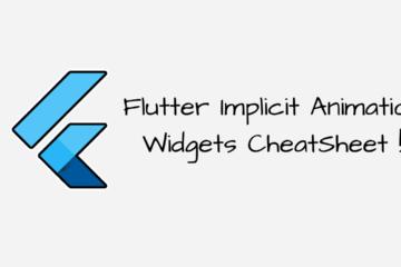 Flutter Implicit Animation Widgets CheatSheet