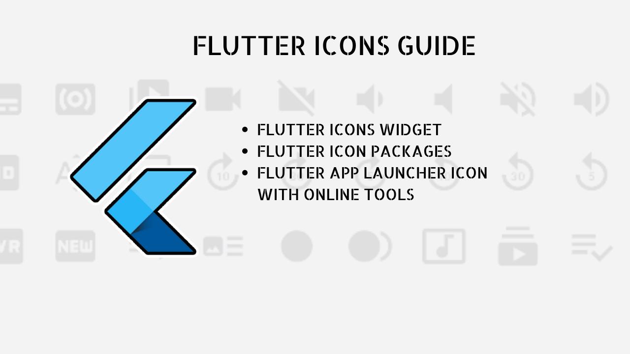 flutter icons