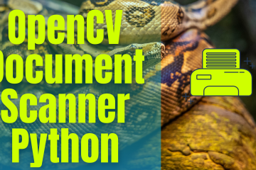OpenCV Document Scanner Python