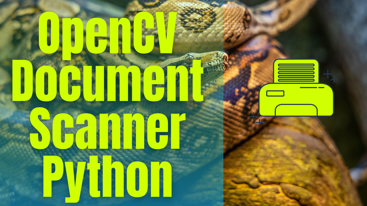 OpenCV Document Scanner Python